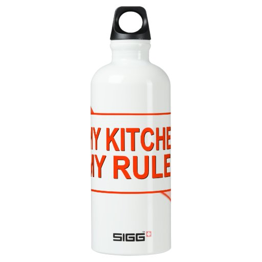 My Kitchen. My Rules. Water Bottle
