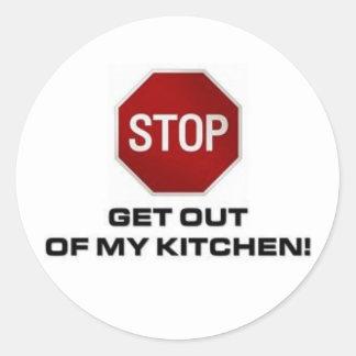 My Kitchen Round Stickers