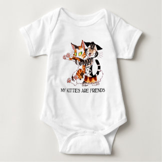 My Kitties Are Friends Baby Bodysuit