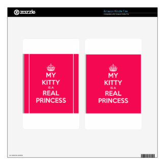 My Kitty Is A Real Princess Kindle Fire Skins