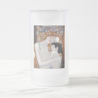 My Klimt Serie : Mother & Child Frosted Glass Beer Mug