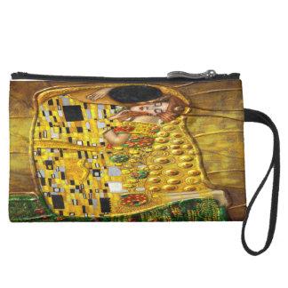 My Klimt Serie:The Kiss Suede Wristlet