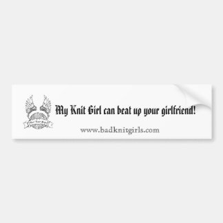 My Knit Girl Bumper Sticker