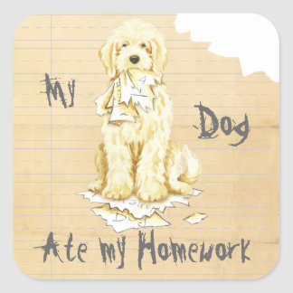 My Komondor Ate My Homework Square Sticker