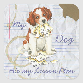 My Kooiker Ate My Lesson Plan Square Sticker