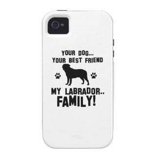 My labrador family, your dog just a best friend iPhone 4 case