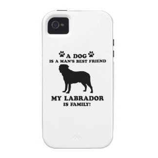 My labrador family, your dog just a best friend iPhone 4/4S cases