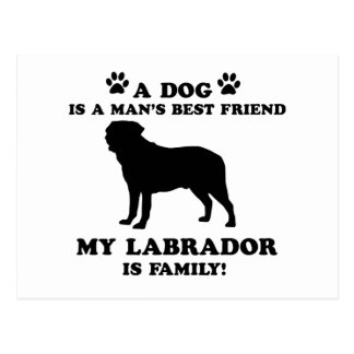My labrador family, your dog just a best friend postcard