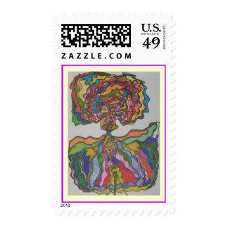 My lady flower stamp