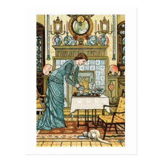 My Lady's Chamber, frontispiece to 'The House Beau Postcard