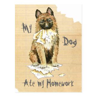 My Laekenois Ate My Homework Postcard