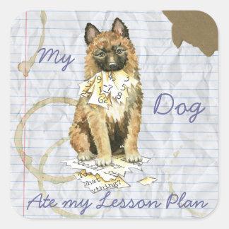 My Laekenois Ate My Lesson Plan Square Sticker
