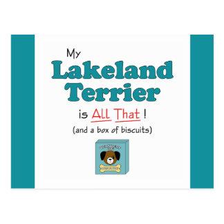 My Lakeland Terrier is All That! Postcard