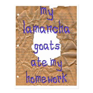 My LaMancha Goats Ate My Homework Postcard