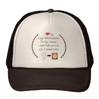 My Large Münsterländer Loves Peanut Butter Trucker Hat