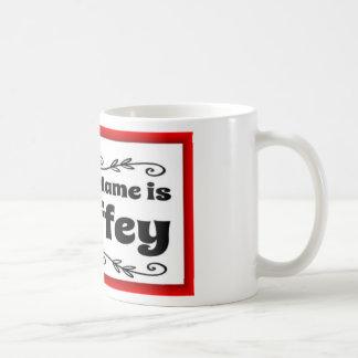 My Last Name is Sheffey with red frame Coffee Mug