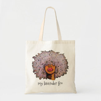My Lavender Fro Budget Tote Bag