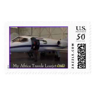 My Learjet 24D, My Africa Travels Learjet 24D Postage