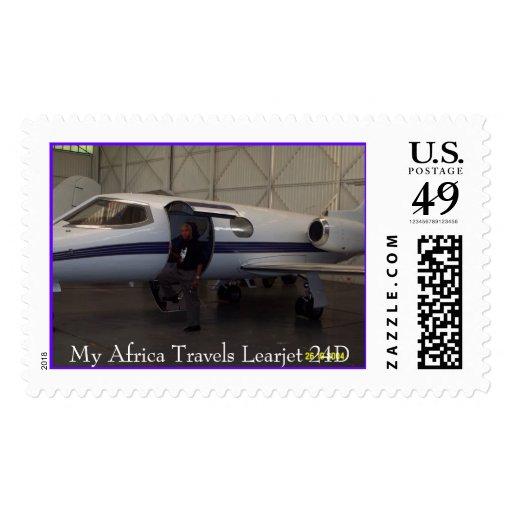 My Learjet 24D, My Africa Travels Learjet 24D Stamp