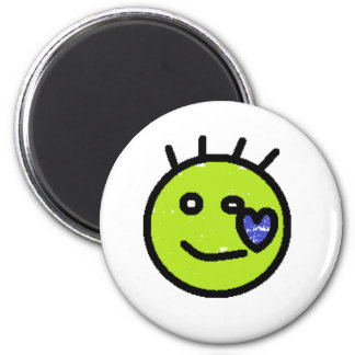 My Left Face 2 Inch Round Magnet