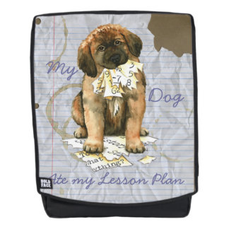 My Leonberger Ate My Lesson Plan Backpack