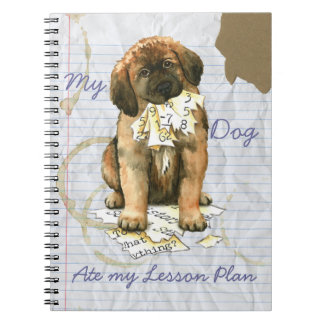 My Leonberger Ate My Lesson Plan Spiral Notebook