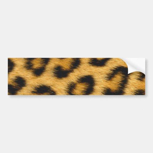 My Leopard Skin Theme Product Car Bumper Sticker