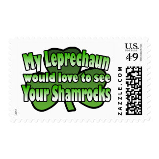 My Leprechaun would Love to see Your Shamrocks Postage