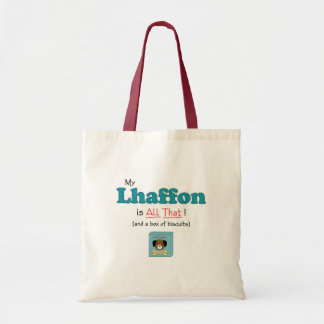 My Lhaffon is All That! Tote Bags