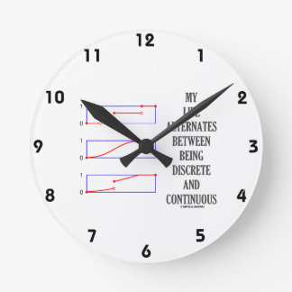 My Life Alternates Between Discrete Continuous Round Wall Clock