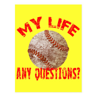 MY LIFE - ANY QUESTIONS? POSTCARD