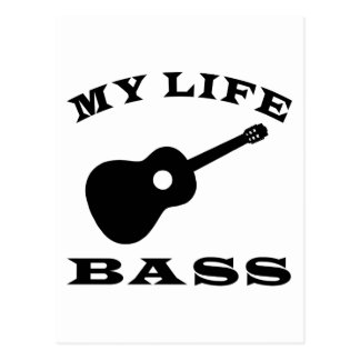 My Life Bass Postcard