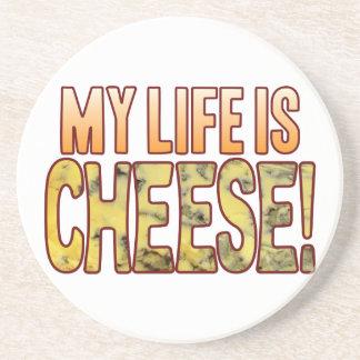 My Life Blue Cheese Sandstone Coaster