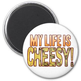 My Life Blue Cheesy Magnet