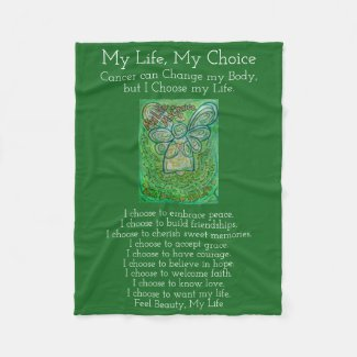 My Life Choice Cancer Angel Chemo Fleece Blanket