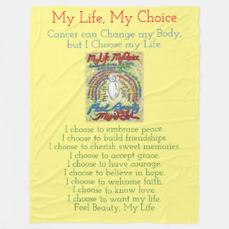 My Life Choice Cancer Angel Chemo Fleece Blanket