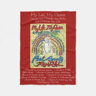 My Life Choice Cancer Angel Soft Fleece Blanket
