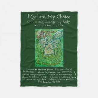 My Life Choice Cancer Poem Soft Fleece Blanket