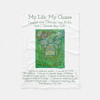 My Life Choice Cancer Poem Soft Fleece Blankets