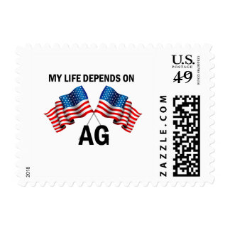 My Life Depends On AG Postage Stamp