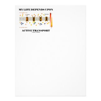 My Life Depends Upon Active Transport (Na-K Pump) Letterhead