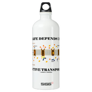 My Life Depends Upon Active Transport (Na-K Pump) Water Bottle