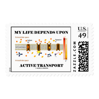 My Life Depends Upon Active Transport Postage