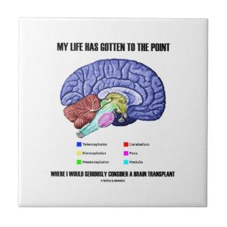 My Life Gotten To Point Consider Brain Transplant Ceramic Tile
