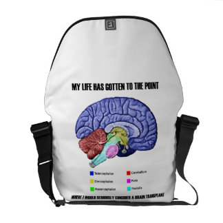 My Life Gotten To Point Consider Brain Transplant Messenger Bag