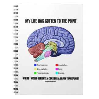 My Life Gotten To Point Consider Brain Transplant Notebook