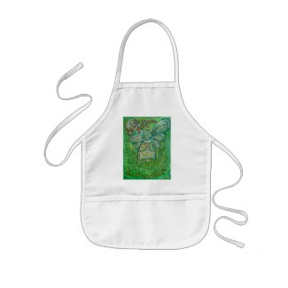 My Life Green Cancer Angel Apron
