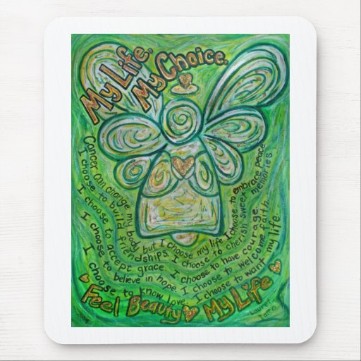 My Life Green Cancer Angel Mousepad