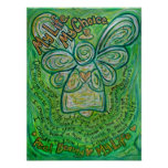 My Life Green Cancer Angel Poster