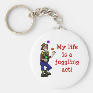 My Life Is A Juggling Act Basic Round Button Keychain